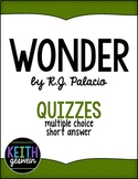 Wonder by R.J. Palacio:  22 Quizzes