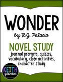 Wonder Power Pack: Prompts, Quizzes, Vocab, Character Anal