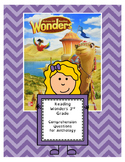 Wonders 3rd Grade Anthology Questions