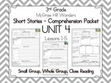 Wonders 3rd Grade - Guided Reading Groups - UNIT 4