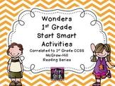 Wonders First Grade Start Smart Reading Activities - Weeks 1-3