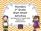 Wonders First Grade Start Smart Reading Activities - Weeks 1-3
