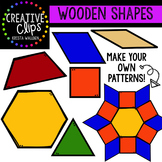 Wooden Shapes {Creative Clips Digital Clipart}