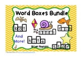 Word Boxes Write On Wipe Off Task Cards Bundle