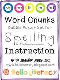 Word Chunks Poster Set 1 for Spelling & Phonics Instruction