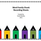 Word Chunks Recording Sheets