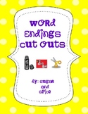Word Endings Cut and Paste