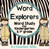 Word Explorer  Word Study for Kindergarten and 1st grade
