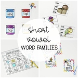 Word Family Activity Pack: 8 Printable Literacy Centers