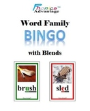 Word Family Bingo with Consonant Blends - A Phonics Game