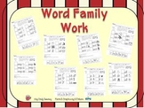 Word Family Cut & Paste -ad -ail -ain -ent -ell -eep -ick -ill
