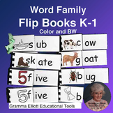 Word Family Flip Books - Grades K-1 - Great Review - Color