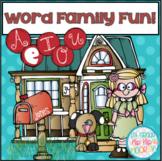 Word Family Fun with Short Vowels A, E, I, O, U...Bundle..