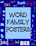 Word Family Poster Pack