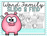 Word Family Slide & Find for Short Vowels