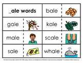 Word Family Sorts - Long Vowels (Set 1)
