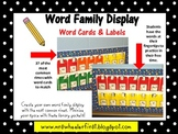 Word Family Word Wall Display