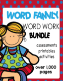 Word Families Word Work Kit