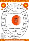 Word Family -all Phonics Merry-Go-Round Game