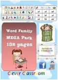 Word Family/CVC MEGA Pack - Literacy Centre Activities - 132pgs