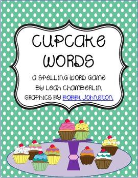 Word Game Cupcake Words