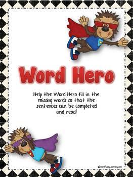 Word Hero Folder Sheets