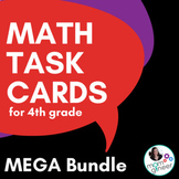 Word Problem Task Cards 4th Grade BUNDLE of 196 cards (opt