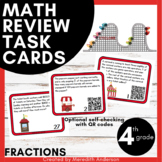 Word Problem Task Cards, Fractions, 4th Grade (QR Codes) C