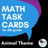 Word Problem Task Cards (optional QR Codes) 5th Grade Common Core
