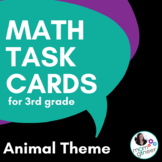 Word Problem Task Cards (optional QR Codes) 3rd Grade Common Core