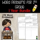 2nd grade Math Word problems- 1 year bundle!