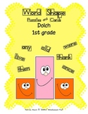Word Shapes - Puzzles and Cards!  Dolch 1st Grade