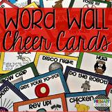 Word Wall Cheer Cards