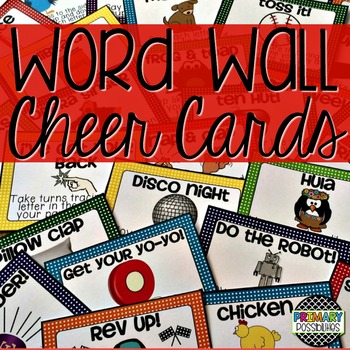 Word Wall Cheer Cards
