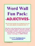 Word Wall Fun Pack - ADJECTIVES!