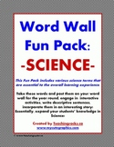 Word Wall Fun Pack ~ Science