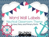 Word Wall Labels {Nautical Classroom Theme}