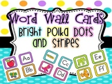 Word Wall Letters AND Pictures {Bright Polka Dots and Stripes}