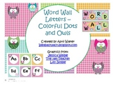 Word Wall Letters - Colorful Dots and Owls