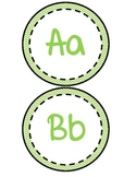 Word Wall Letters-Green Chevron