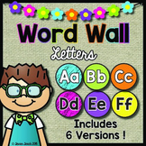Word Wall Letters (Headers):  Neon and Black