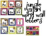 Word Wall Letters - Jungle/ Safari Themed