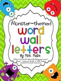 Word Wall Letters - Monster Theme