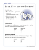 Word Wise poster: It's vs. Its