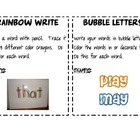 Word Work Center Ideas with Instructions