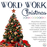 Word Work Centers: Merry Christmas