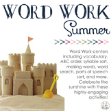 Word Work Centers: Summer Sunshine