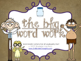 Word Work Centers: The BFG