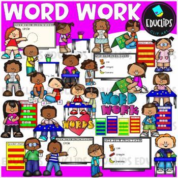 Word Work Clip Art Bundle