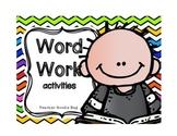 Word Work Literacy Center Activities (common core)